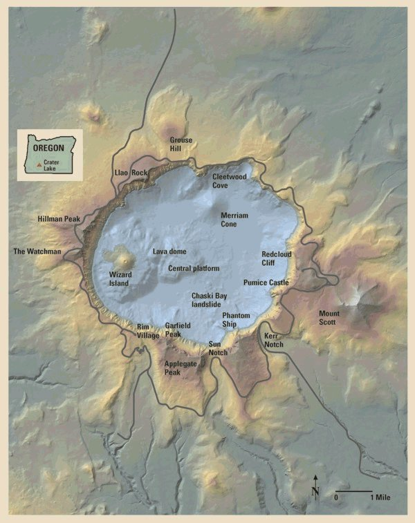 Crater Lake Map