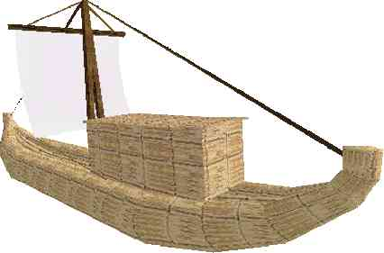 A reed boat